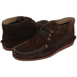{7.5} Frye Men's Suede Mason Chukka in Dark Brown